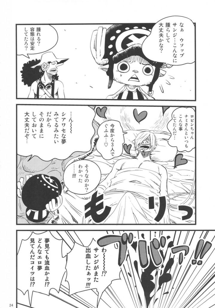 ナミ×ロビン×サンジの夢の3P中出しセックス!【エロ同人誌・ワンピース-ONE PIECE-】