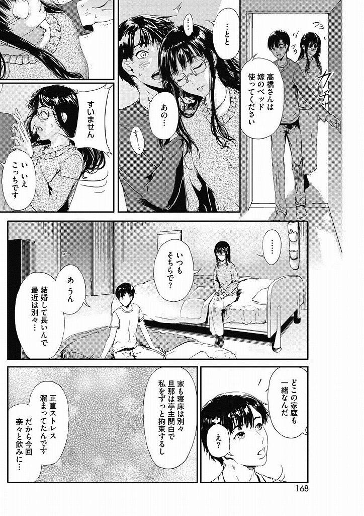 【エロ漫画】オナニーの途中で妻が友人を連れてきて欲求不満で妻友人と一緒に寝ることになりレイプして中出ししまくった結果www
