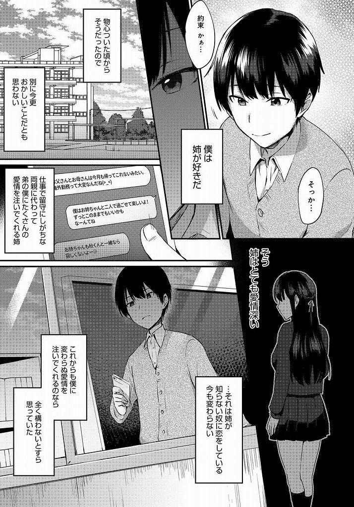 【エロ漫画】姉の事が大好きで他の男にいかないように催眠をかけて従順な女に調教して深夜に着衣のまま正常位で生ハメセックスwww